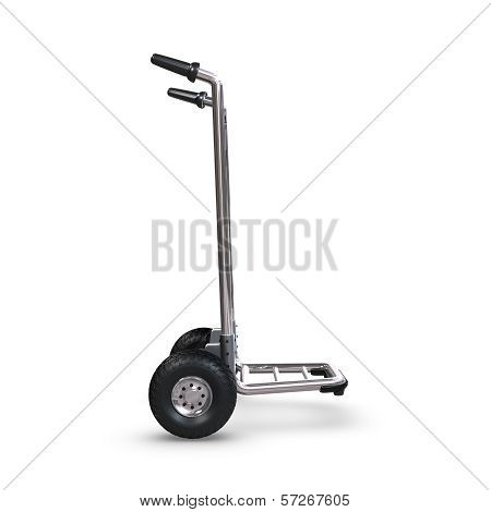 Hand Truck Upright And Empty Profile