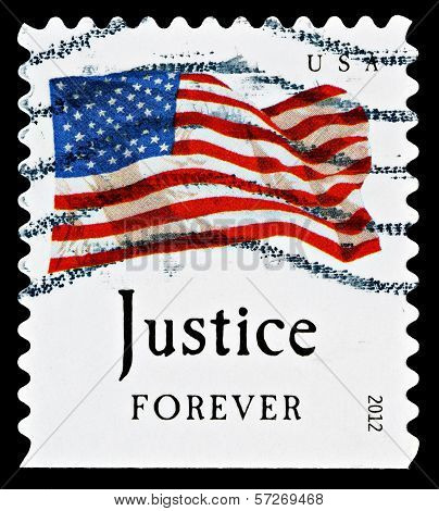 United States Flag Postage Stamp