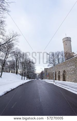 Long Herman (pikk Herman) Tower In Tallinn, Estonia