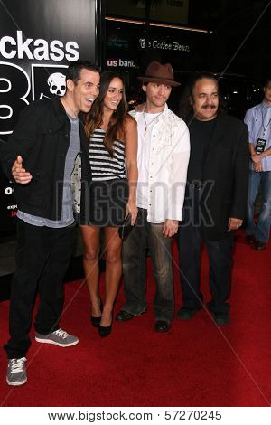 Steve O, Clifton Collins Jr., Ron Jeremy at the premiere of