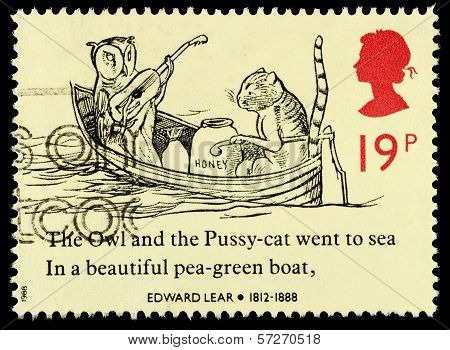 Britain Edward Lear Postage Stamp