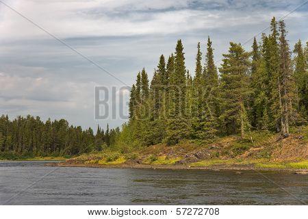 Pana River. Kola Peninsula. Russia.