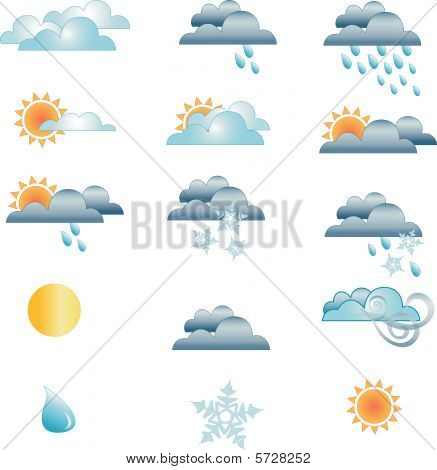 Weather Symbols icons vector