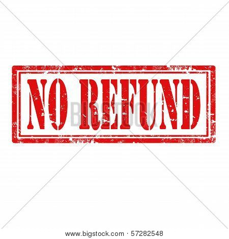 No Refund-stamp