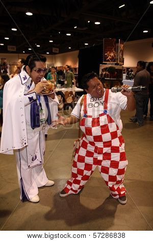 Eric Cajiuat aka Jedi Elvis and Pablo Ramos aka Bob's Big Boy  at Long Beach Comic-Con Day 1, Long Beach Convention Center, Long Beach, CA. 10-29-10