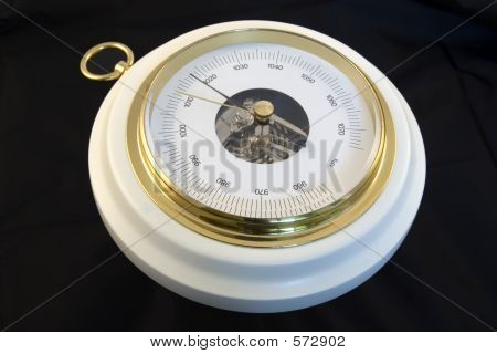 Barograph Isolated On Black Background