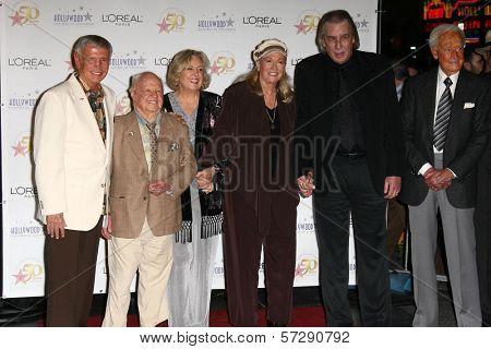 Roger Williams, Mickey and Jan Rooney, Diane Ladd, Jim Ladd and Bob Barker at thr Hollywood Walk of Fame's 50th Birthday Bash,  Kodak Theater Grand Ballroom, Hollywood, CA. 11-03-10
