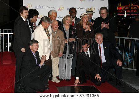 Roger Williams, Mickey Rooney, Jan Rooney, Diane Ladd, Jim Ladd and Bob Barker  at thr Hollywood Walk of Fame's 50th Birthday Bash,  Kodak Theater Grand Ballroom, Hollywood, CA. 11-03-10