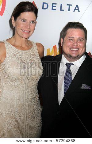 Mary Bono Mack and Chaz Bono at the 23rd Annual GLAAD Media Awards, Westin Bonaventure Hotel, Los Angeles, CA 04-21-12