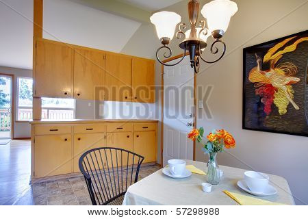 Small Dining Room With Storage Combination