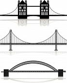 pic of golden gate bridge  - various bridge illustrations - JPG