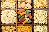stock photo of pene  - Background image of italian pasta - JPG