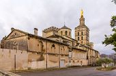 stock photo of avignon  - Cathedral Notre - JPG