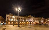 stock photo of winter palace  - Capitole de Toulouse by night  - JPG