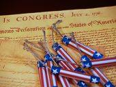 pic of preamble  - The Declaration of Independence with red - JPG