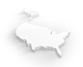 foto of united states map  - Beautiful pure white usa 3d map isolated on white background - JPG