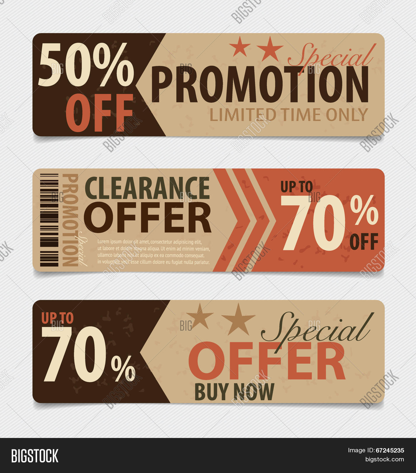 Sale coupon template