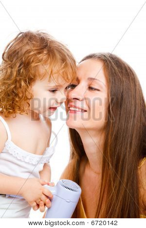 Mom And Lovely Girl
