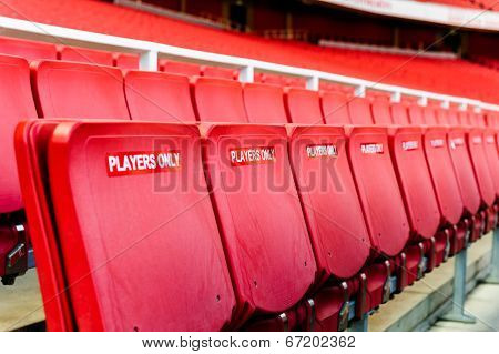Players's seating at Arsenal Football club