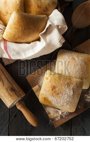 Fresh Homemade Ciabatta Buns