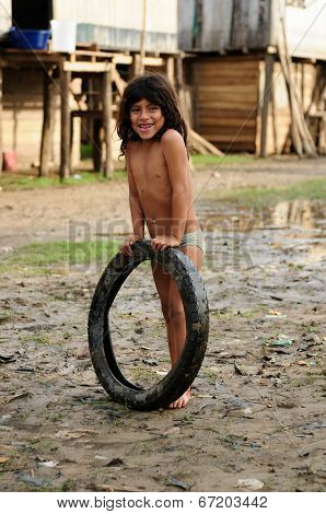 Young Native American From The Amazonian Jungle