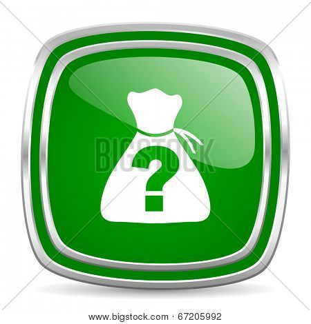 riddle glossy computer icon on white background