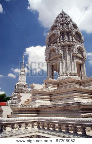 On of the temples at Royal palace in Phnom Penh, Cambodia