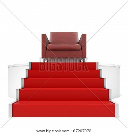 Red Chair On Podium