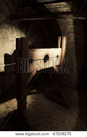 Torture device in an old castle