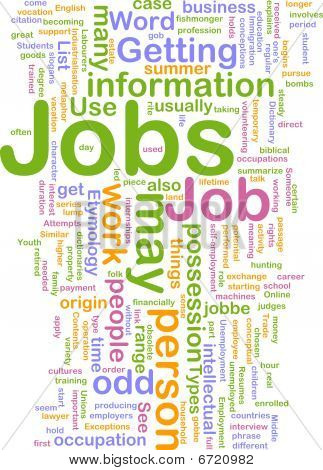 Jobs Employment Background Concept