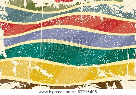 Grunge multicolored stripes background. Vector