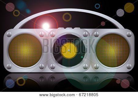 Vinyl music player boombox