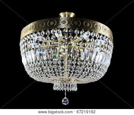 Contemporary glass chandelier