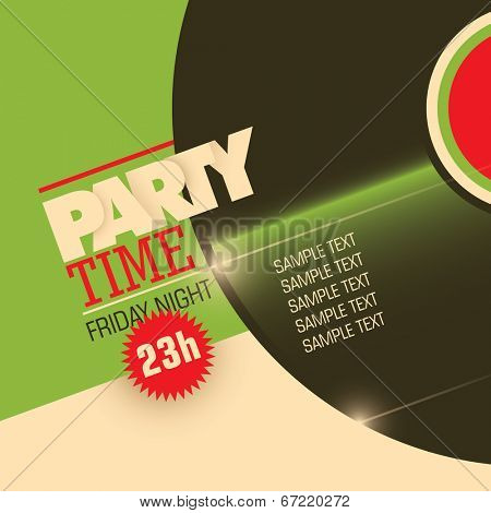 Illustrated party background. Vector illustration.
