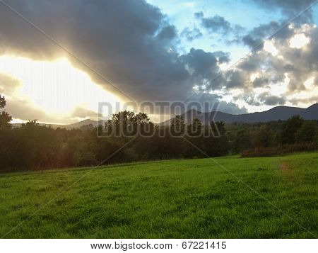 Sunrise Over The Countryside