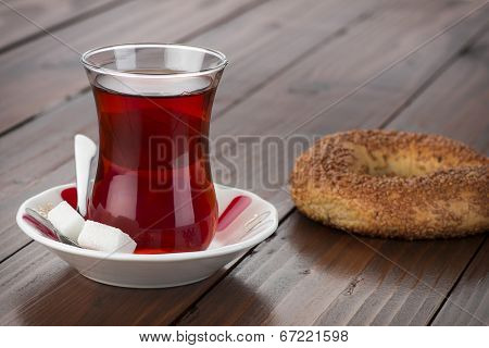 Turkish Tea and Bagel