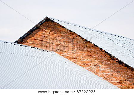 Brick Building With Corrugated Metal Roof