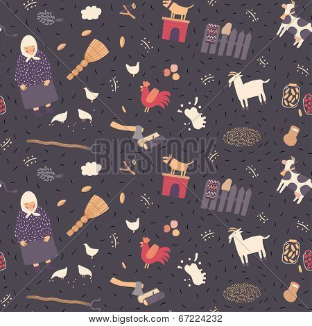 Rural seamless pattern