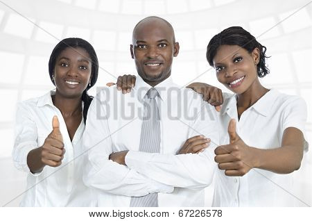 African Business Team  / Students Thumbs Up