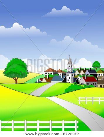 Pintoresco paisaje rural