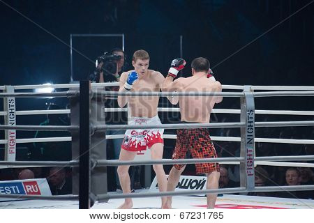 Moscow - March 28: Alexander Mischenko And Timur Aylyarov On Fights Tournament Fight-15: Revenge On