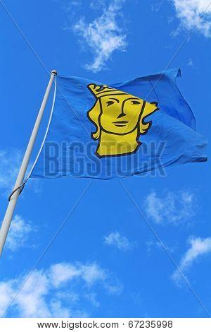 Stockholms Flag In Stockholm, Sweden
