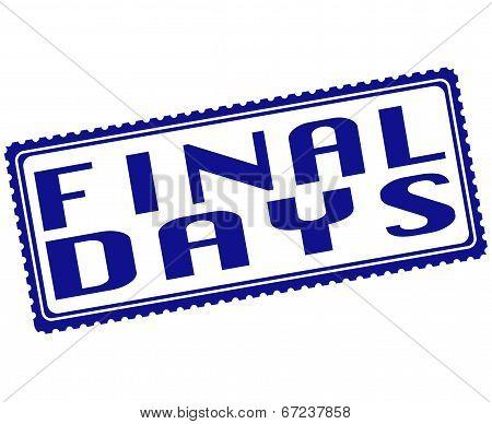 Final Days Stamp