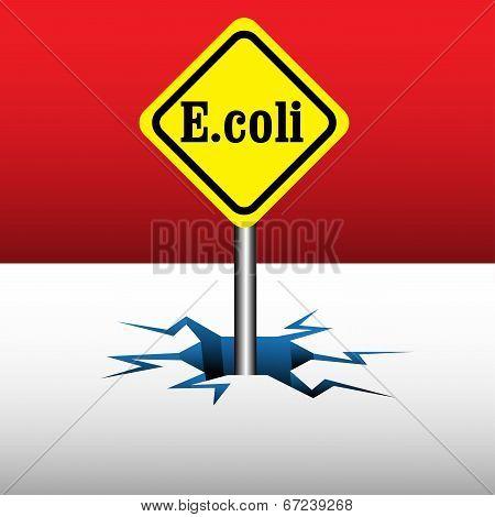 E coli signpost