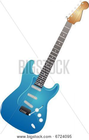 Electric Guitar isolated illustration..