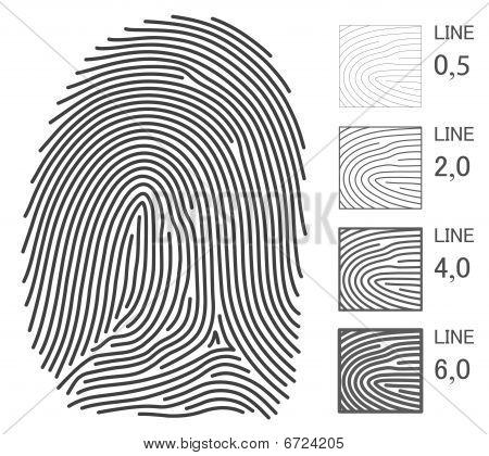 Finger Print Lines
