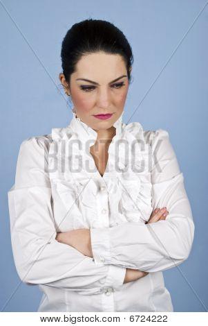 Worried Sad Businesswoman
