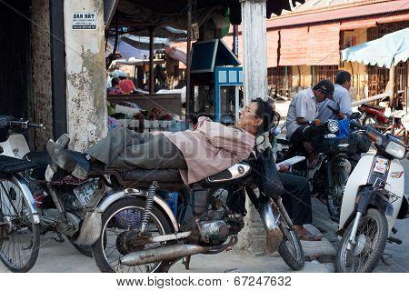 Motorbike Taxi Driver, Vietnam