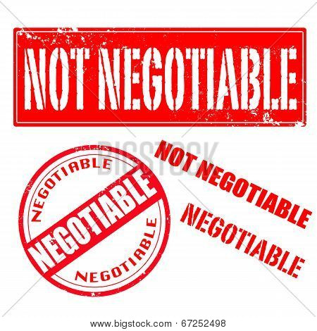 Not Negotiable , Negotiable Stamp