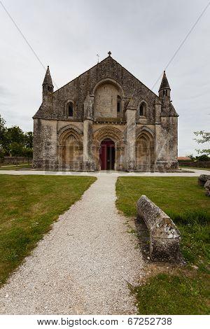 Full Main Entrance View Of Aulnay De Saintonge Church